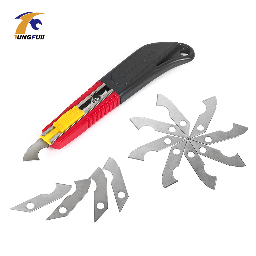 Hook knife Acrylic CD cutting tool knife Blade Steel Hook Blades Cutter DIY Hand Tools for ABS Plate Acrylic Board Plastic Sheet slitting knife for cutting stainless steel sheet