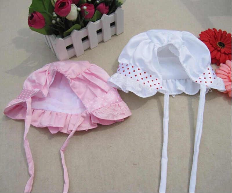 เด็กทารกฤดูร้อนหมวกเด็กแรกเกิดหมวก Solid เด็ก Bows หมวกสีแดง Dot เด็กหมวกเด็กวัยหัดเดินหมวกนุ่ม