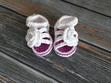 Baby Sandals Crochet Baby Girl Sandals Infant Girl Shoes  Gift Newborn rose Sandals Flower Booties 0-12M customize