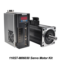 1.8KW 220V 110ST M06030 Servo Motor Kit 3000rpm Servomotor Matched Drive For CNC Machine With Encoder Motor Cable