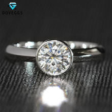 Luxury 1 Carat ct F Color Lab Grown Moissanite Engagement Wedding Ring Solid 14K 585 White Gold For Women