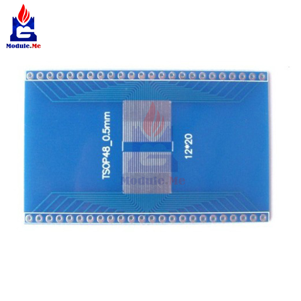 Active Components Tsop56 Tsop48 To Dip56 Adapter Pcb Board For Am29 Series Ic 0.5mm 0.65mm Pitch Transfer Board