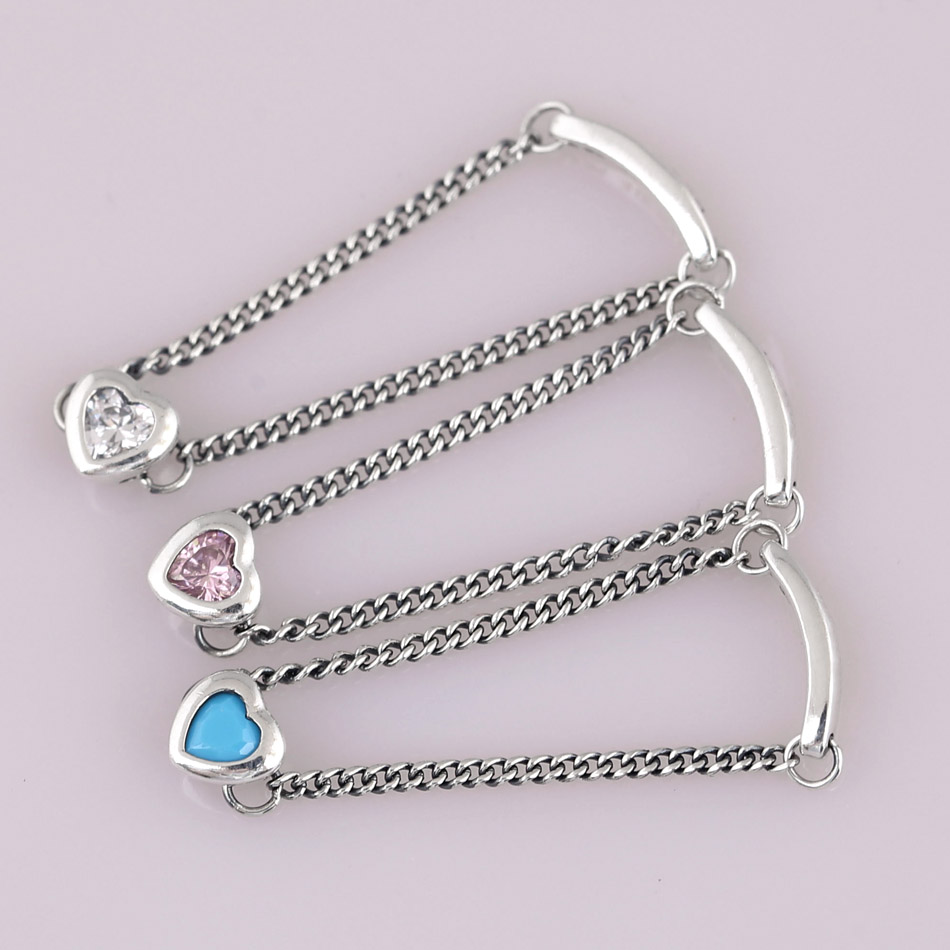 387704bc45a6c Authentic 925 Sterling Silver Ring Pink&blue&clear Spirited Heart Rings For  Women Wedding Party Gift Fine Pandora Jewelry