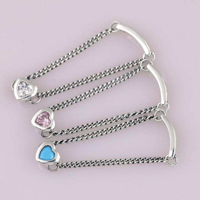 e69e732cd Authentic 925 Sterling Silver Ring Pink&blue&clear Spirited Heart Rings For  Women Wedding Party Gift Fine Europe