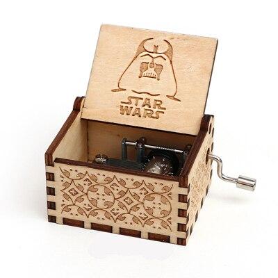 Прямая поставка, черная деревянная музыкальная шкатулка, игра в трон, Caja, музыкальная Zelda, ручная работа, Деревянная Музыкальная Коробка, рождественский подарок - Цвет: Star wars-Y