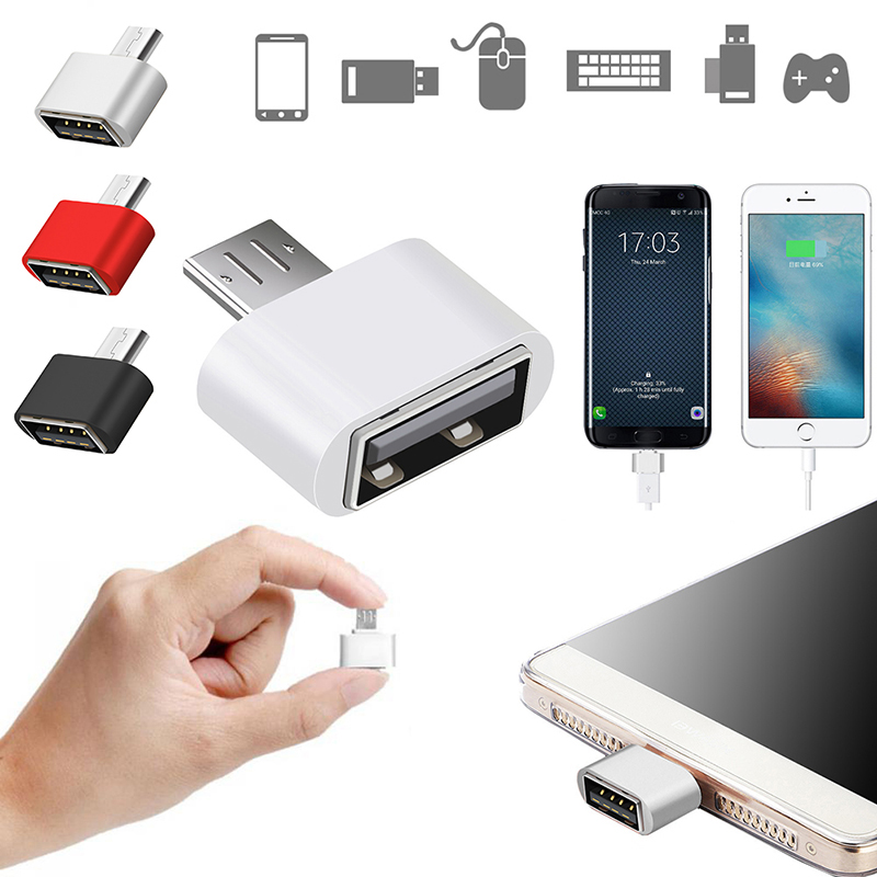 3 Colores Micro Usb A Usb Otg Adaptador Convertidor 2,0 Para Tablet Pc Para Flash Teclado Del Mouse