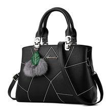 Women Handbag High Quality Thread PU Leather Women Messenger Bags Fashion Fur Shoulder Crossbody Bags For Female Ladies