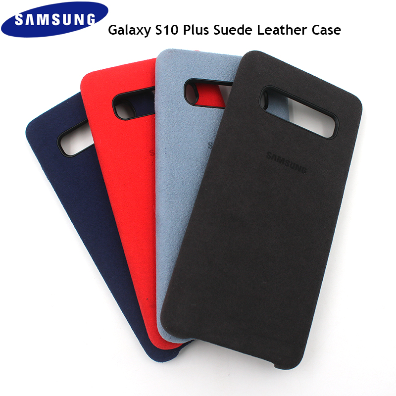 Original Samsung Galaxy S10 Plus Suede Leather Case Anti-Fingerprint Finish Back Protective Cover For Samsung S10 S10+ S10E Lite