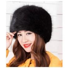f3f3e952983b8d 2019 New Artificial Fur Solid Color Hat Ladies Winter Ski Warm Bucket Cap  Christmas Iceberg Hat