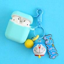 Новые милые декоративный силикон чехол для Apple Airpods Bluetooth наушники интимные аксессуары 1 2 защитный сумки кольцо ключей