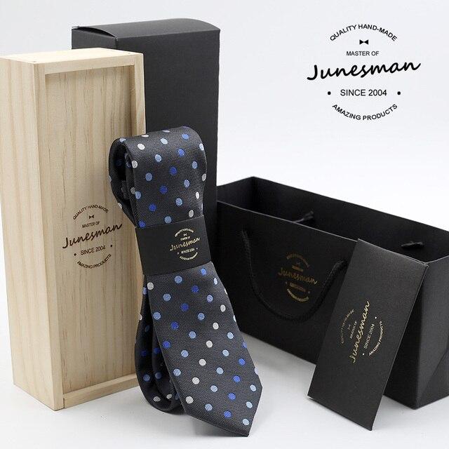 2016 шелк шеи галстук человек тонкий свадьба галстук мужской dot печати mariage kravat гент дизайнер галстуков дружок подарок с шерсть окно
