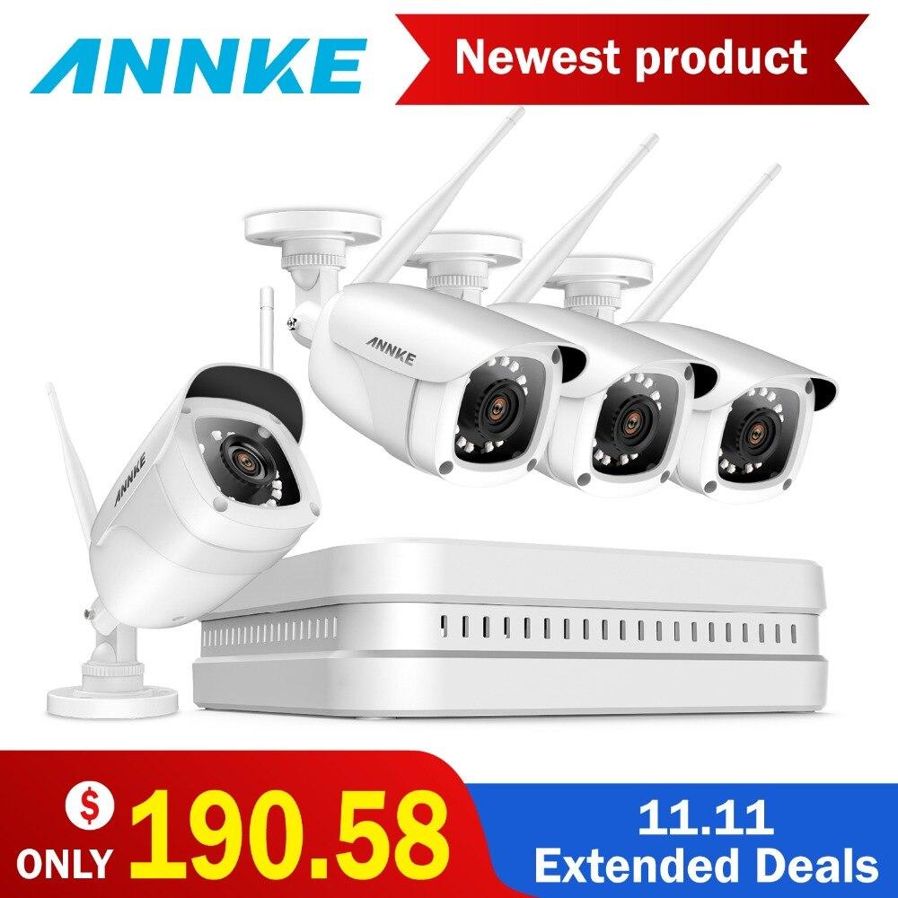 ANNKE 1080 p HD 8CH Sans Fil WIFI NVR Kit Intérieur Extérieur Caméras IR H.265 App Sécurité Caméra WIFI CCTV Système kit de Surveillance