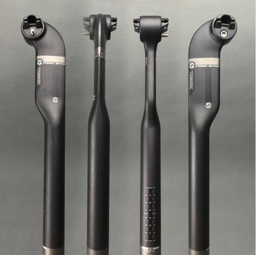 TOSEEK Tija de sill/ín de sill/ín de Carbono de 25 Grados 27,2//30,8//31,6 x 400 mm