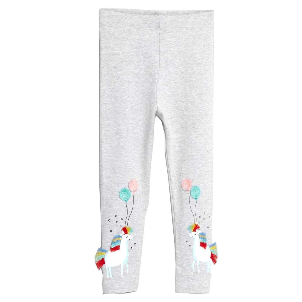 Girls Cotton Leggings Horse Flamingo Mermaid Animal Pattern Kids Pants Trousers
