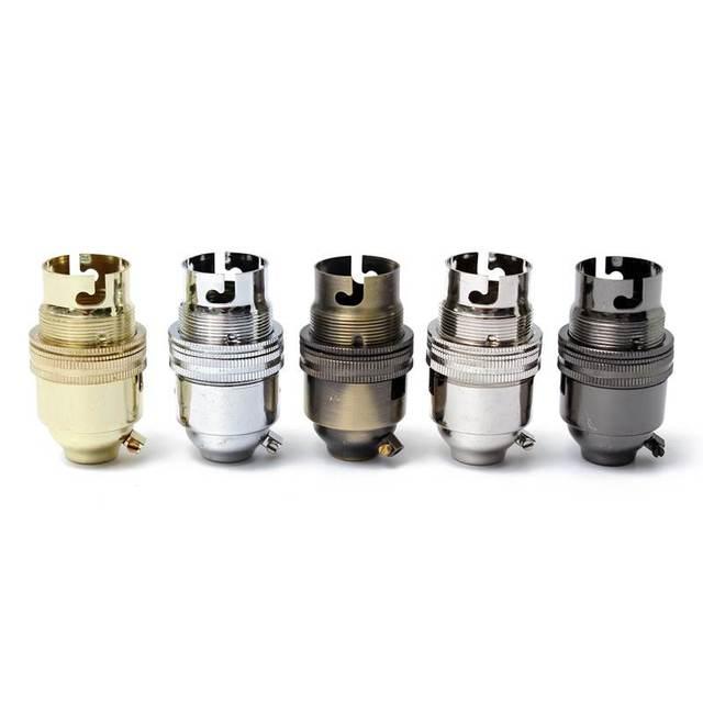 250v 2a vintage lamp base holder switched b22 socket light bulb metal lamp holder earthed vintage