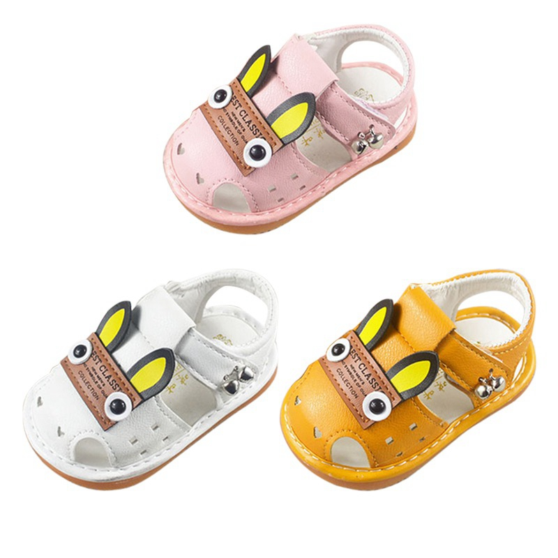 Summer Infant Shoes Sandals Cartoon Animal Pattern With Sound Soft-Soled Baby Shoe Sandals