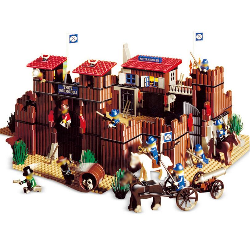 Lepin 33001 City Castle Street Series Building Blocks Western Cowboy Brick DIY Educational Toy For Kids a toy a dream lepin 24027 city series 3 in 1 building series american style house villa building blocks 4956 brick toys