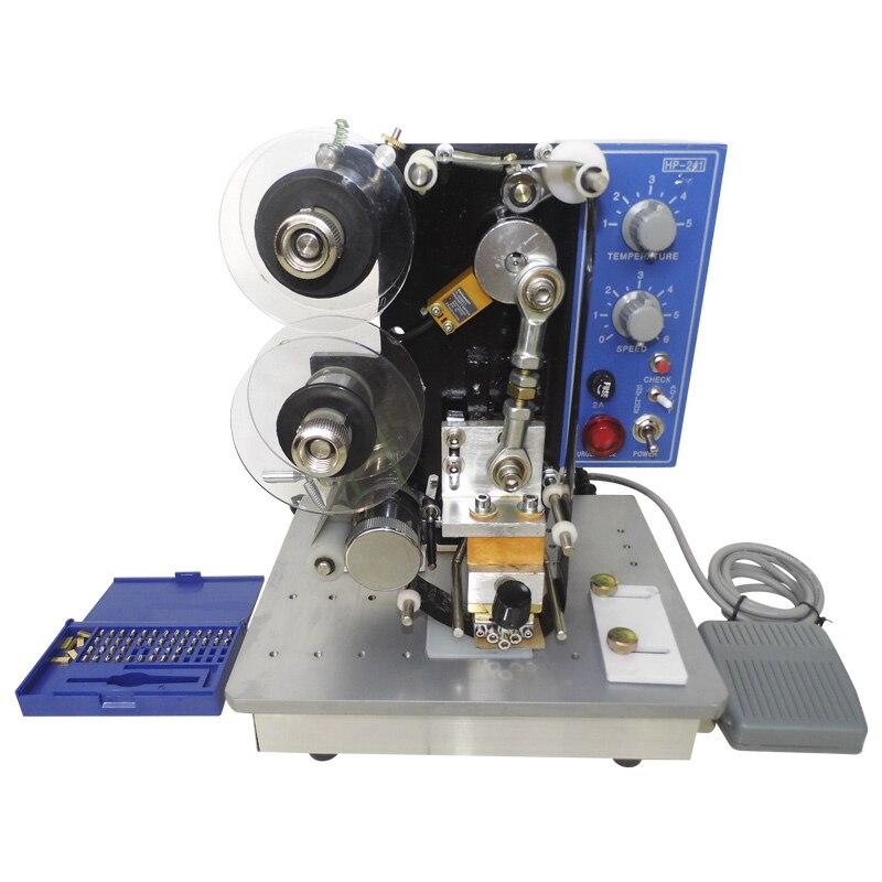 Sac en plastique manuel/papier/carte/étiquettes/date de production/date d'expiration/machine d'impression par lots