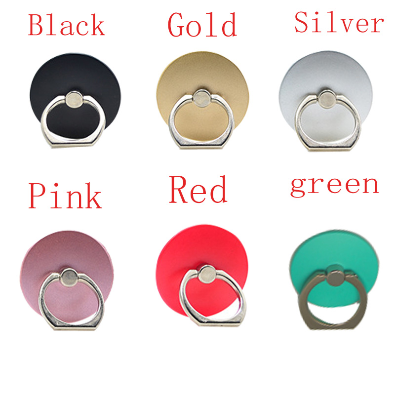 5pcs Mobile Phone Circular Ring Buckle Bracket Ring Finger For Iphone Samsung Android Mobile Phone Back Cover