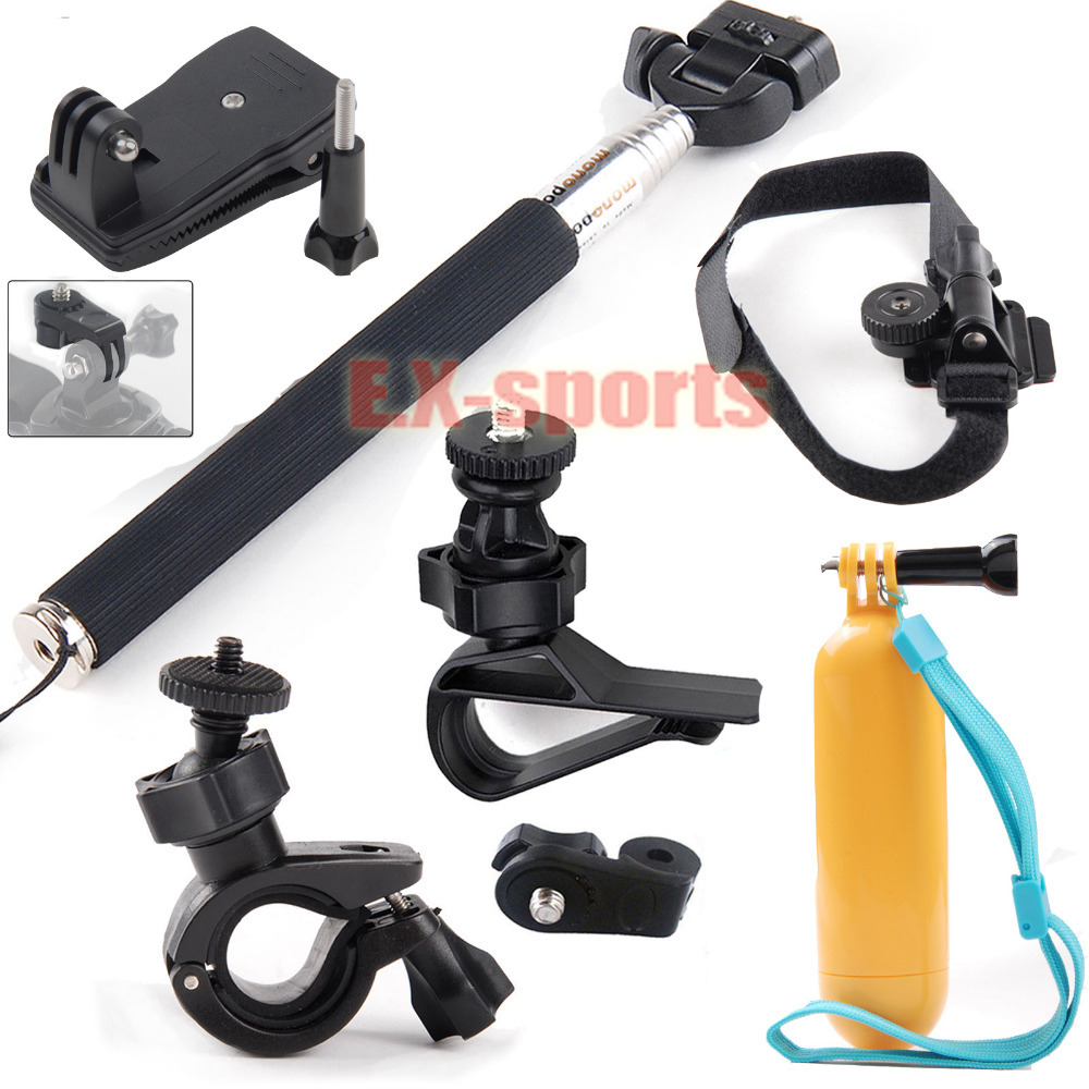 Accessories Helmet strap Kit Selfie Stick Pole Mounts for Sony Action Cameras AS15 AS20 AS200V AS100