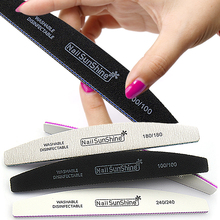 6Pcs Thick Professional Nail File 100/180/240 Buffer Block UV Gel Varnish Emery Sandpaper Files White/Gray/Black