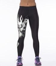 Euro Style sexy women white elephant god 3D digital printing high waist workout fitness Women leggings Pants YH2006