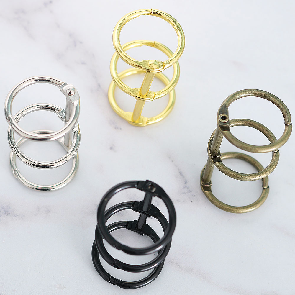 2pcs/set A5 A6 Metal Spiral Binder Clips Stainless Steel Binder File Vintage Stationery Folder Clip Rings School Office Supplies