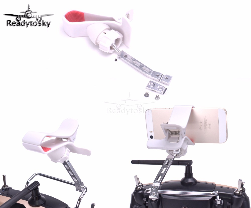 FPV monitor Mobile Phone Holder mounting Bracket Support 3.5-6 inch Clip for Radiolink AT9S AT9 Remote control