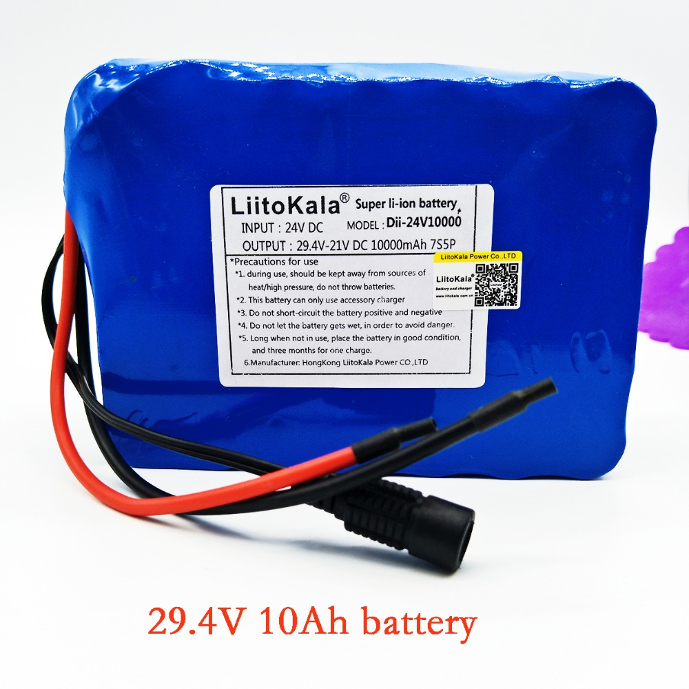 Liitokala 7s5p New victory 24V 10Ah lithium battery electric bicycle 18650 24V (29.4V)Li ion battery no contains charger free customs taxes high quality skyy 48 volt li ion battery pack with charger and bms for 48v 15ah lithium battery pack