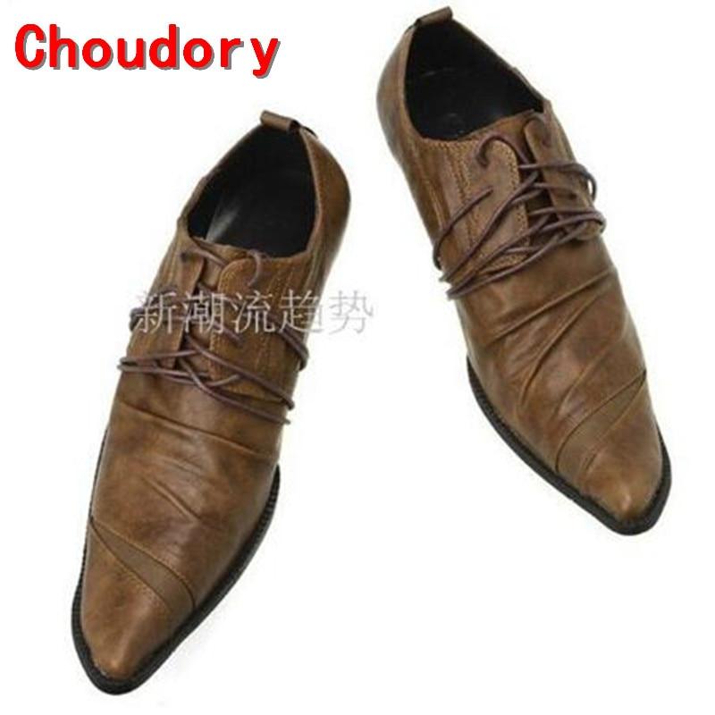fashion height increasing Italian luxury genuine leather men shoes crocodile designer high Heel men