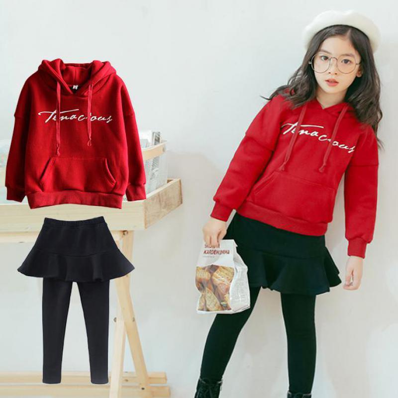 1fe06c00700 Toddler Girls Clothing Sets Long Sleeve Sweatshirts + Skirts Leggings Pants  2019 Fashion Spring Kids Children Clothes 10 12 Year