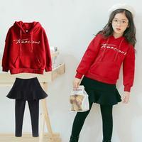Toddler Girls Clothing Sets Long Sleeve Sweatshirts + Skirts Leggings Pants 2019 Fashion Spring Kids Children Clothes 10 12 Year