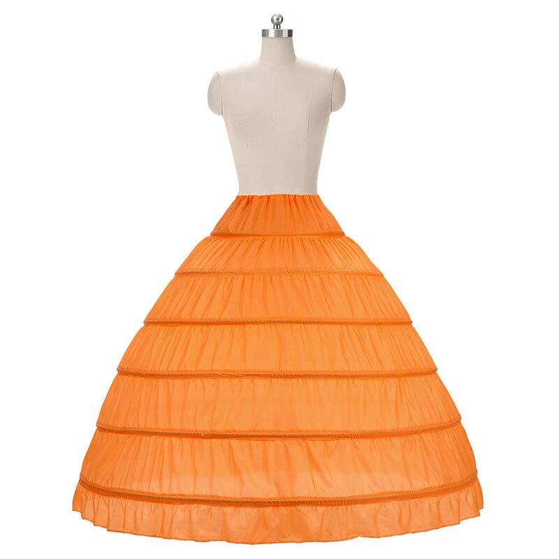 Fustanet e nuseve Ball Fustan Petticoat White 6 Hoops Underskirt - Aksesorë dasme - Foto 4