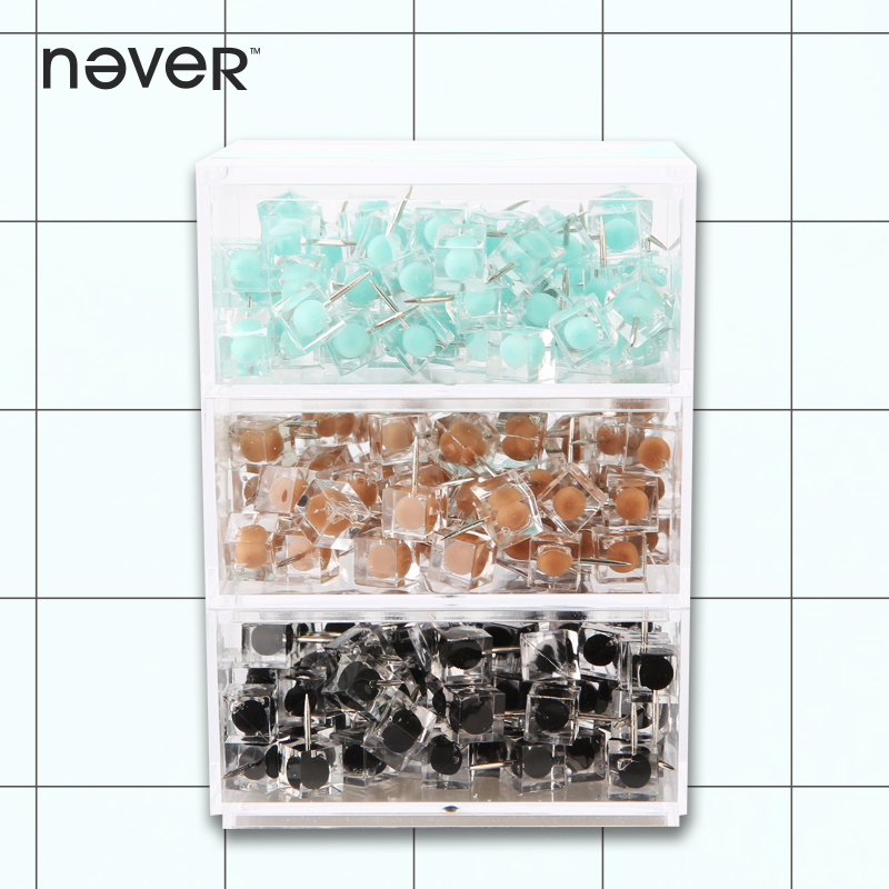 Never Colored Thumbtack Nail Plastic Drawing Map Pins Office Accessories For Wood Cork Board Painting Photo Wall Gift Stationery fixmee 50pcs white plastic invisible wall mount photo picture frame nail hook hanger