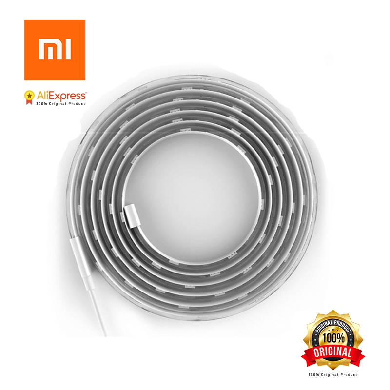 Original Xiaomi Yeelight Smart LED Light Strip Wi Fi Remote Control WiFi 16 Million Colors Flexible Intelligent Scenes 2M 140f1142 devireg smart интеллектуальный с wi fi бежевый 16 а