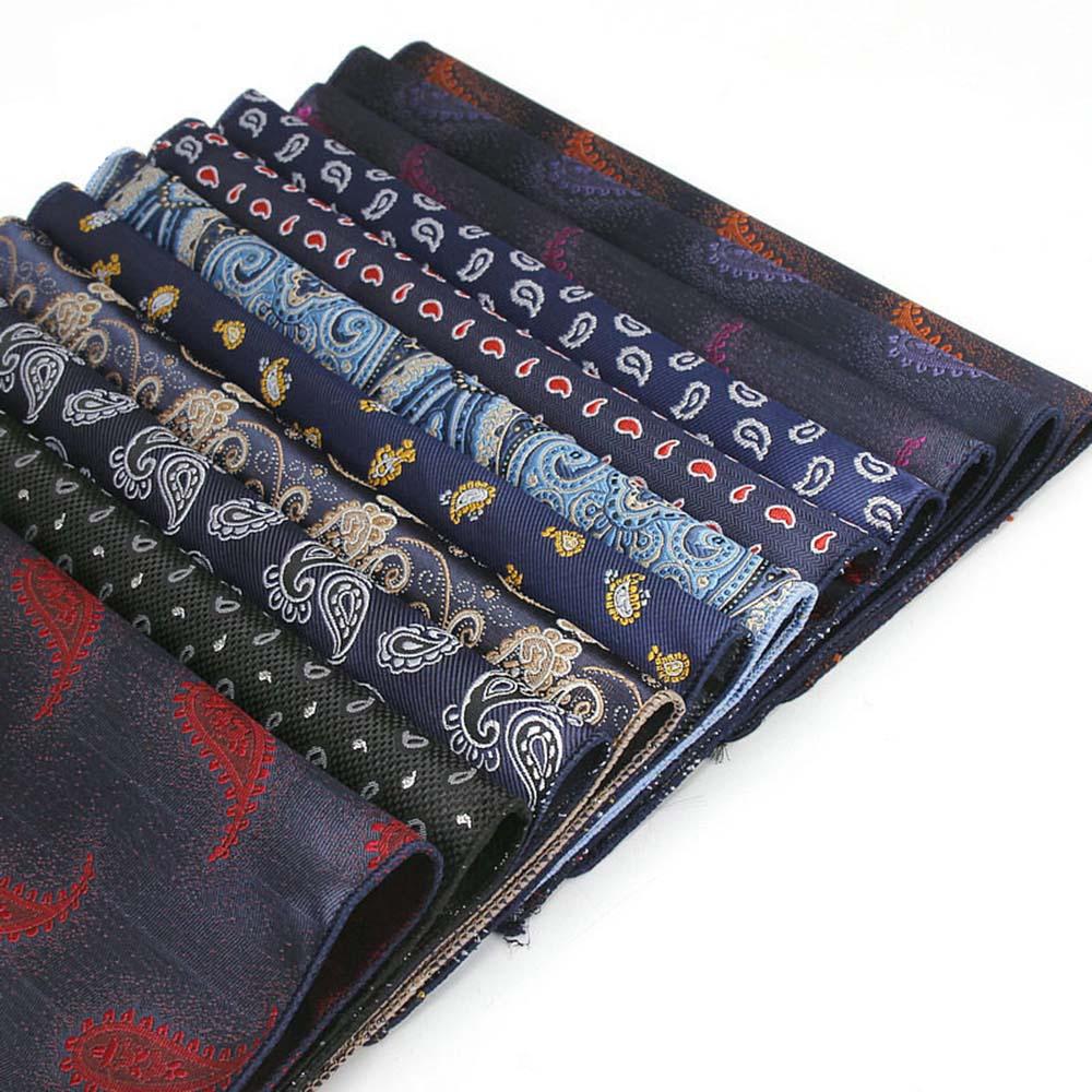 HUISHI Paisley Pocket Square Jacquard Floral Pocket Square Hanky Suits Mens Pocketsquare