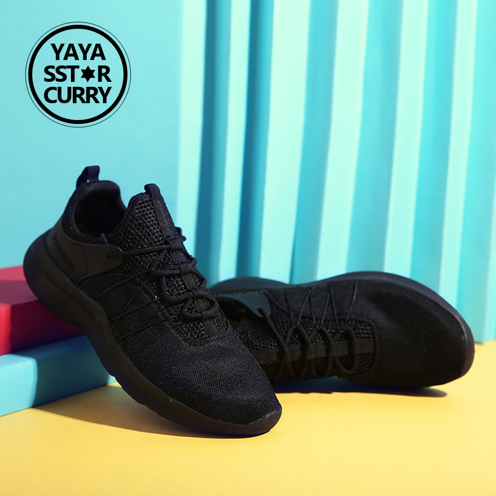 2018 YAYA SSTAR CURRY Mens Outdoor Athletic Sport Sneakers Breathable Mesh Upper Lace Up Black White Light Running Shoes