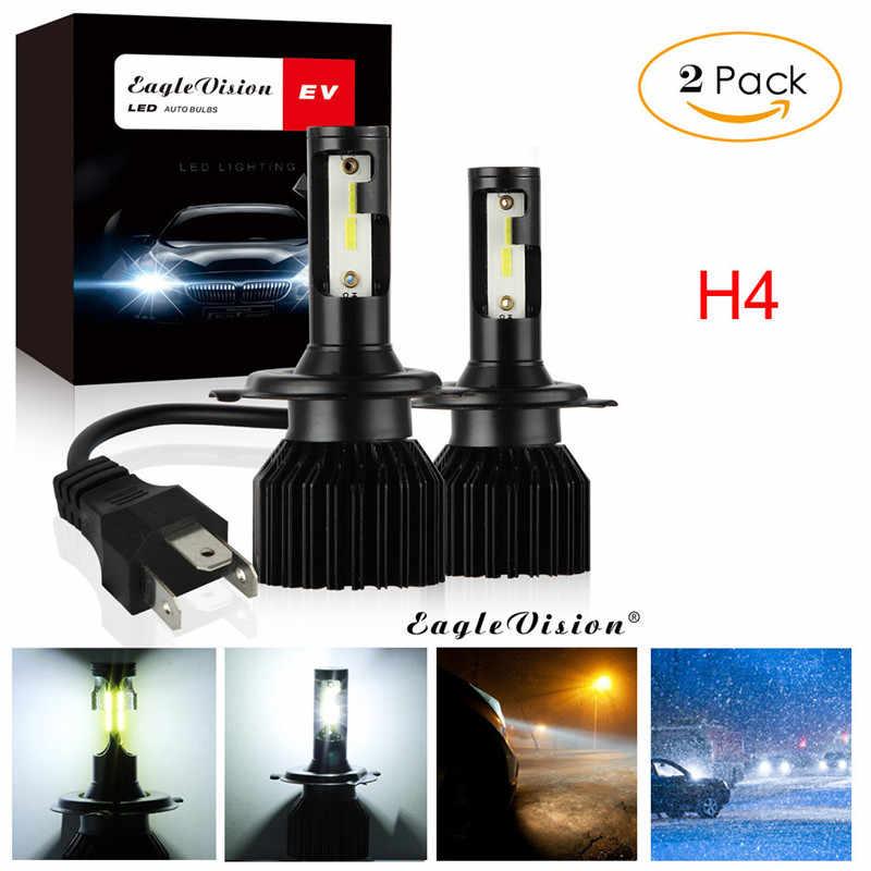 2Pcs H4 9003 200W 20000LM 6000K Car COB LED Conversion Headlight Bulb Hi//Lo Beam