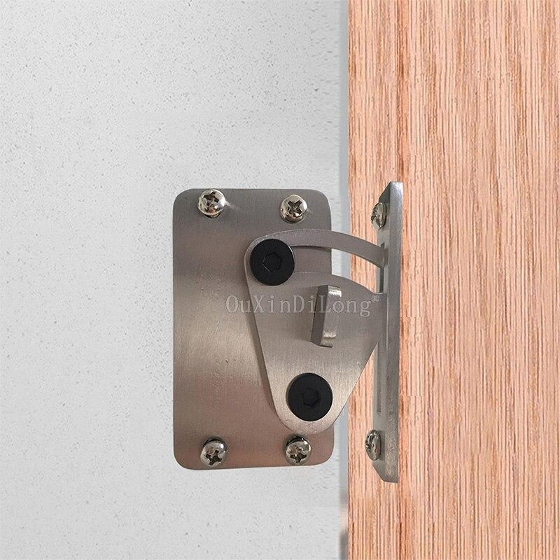 1PCS Stainless Steel Sliver Door Latch Door Lock for Sliding Barn Wood Door Easy DIY JF1775 1pcs 2018 new style stainless steel sliding barn door lock black wood door door latch jf1612