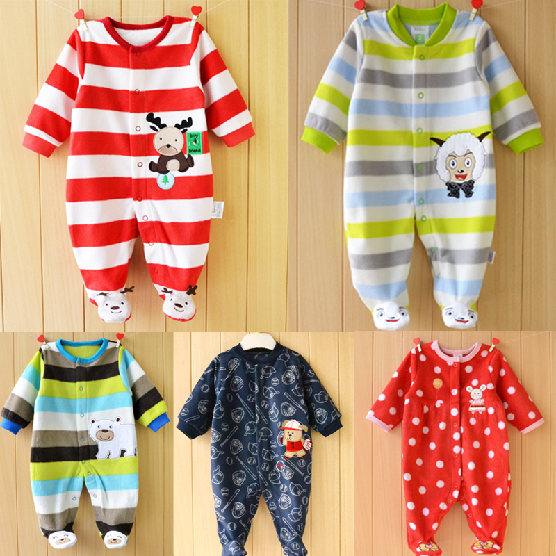 Newborn Fleece Baby Rompers Colorful Baby Boys Girls Clothing Spring Autumn New Born Jumpsuits Roupas Bebes Baby Girls Clothes newborn fleece baby rompers long sleeve baby boys girls clothing spring winter newborn jumpsuits roupas bebes baby girls clothes