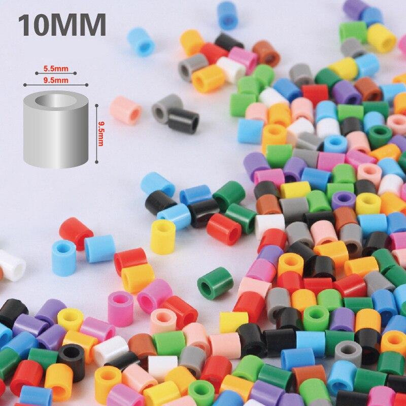 Mixte couleur 10mm 2000 pcs en bouteille écologique bricolage hama perler 3D melty fer Jouets pour artisanat enfants artisanat perles Cadeau livraison gratuite - 3