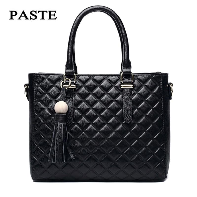 PASTE 2017Famous Brand Women Handbag High Quality Genuine Leather Shoulder Messenger Bags Serpentine Zipper Sequined Fashion Bag high quality manual paste
