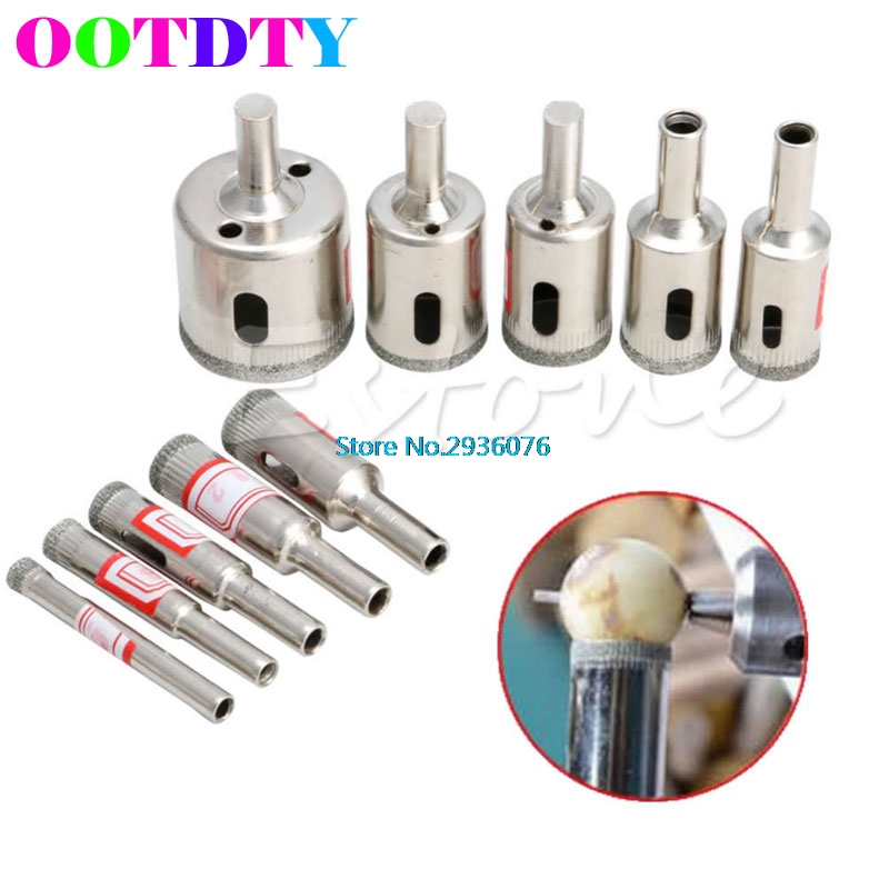 10pcs/lot Diamond Tool Drill Bit Hole Saw Set For Glass Ceramic Marble 6mm-32mm APR3 best promotion 10pcs set diamond holesaw 3 50mm drill bit set tile ceramic porcelain marble glass top quality