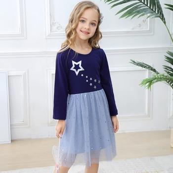 유아 unciorn 드레스 아기 소녀 옷 가을 겨울 긴 소매 여자 드레스 아동 의류 코튼 어린이 공주님 드레스