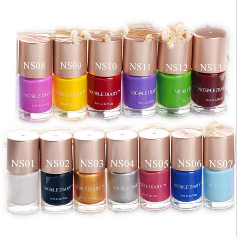 The Nail Art And Beauty Diaries: NICOLE DIARY 13 Bottles 9ml Sweet Color Nail Art Stamping