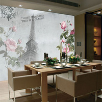 Custom Print DIY Fabric Textile Wallcoverings For Walls Wallpaper Matt Silk For Living Room Flowers Tower