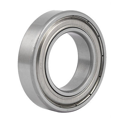 15mm x 80mm x 50mm Double Sealed Deep Groove Ball Bearing Silver Tone