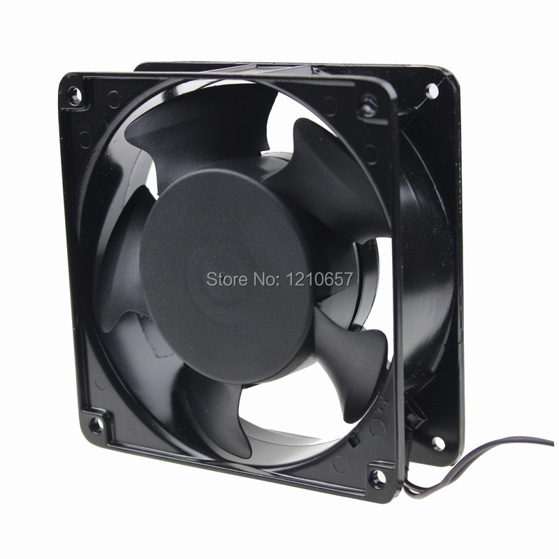 5 pcs lot Gdstime 12038B 120mm x 38mm AC 220V 240V Ball Exhaust Industrial Flow Cooler Cooling Fan