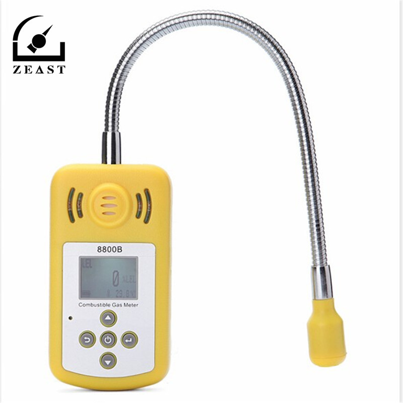KXL-8800B analyseur de gaz numérique détecteur de gaz Combustible emplacement de fuite de gaz déterminer testeur avec écran LCD alarme de lumière sonore