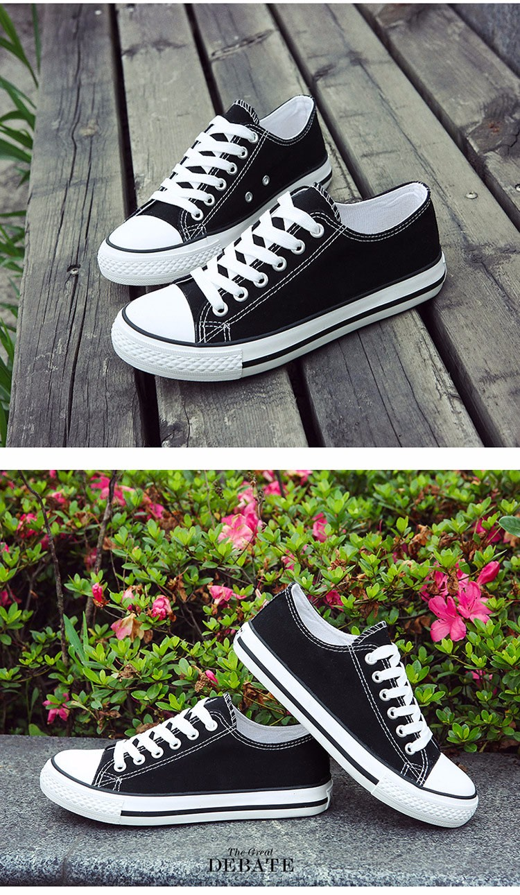 Hellozebra Men Casual Canvas Shoes Classical Lace Up Solid Flats Breathable Board Soft Leather Students Shoes 2016 Autumn New  (28)